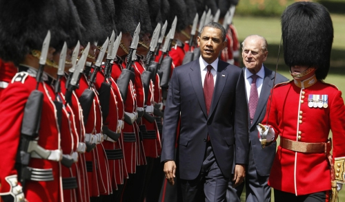 Barack Obama visita Europa, Londres Fuente: The Big Picture - Boston.com