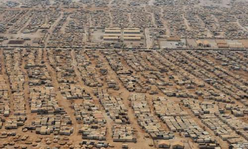 Campo de refugiados en Jordania. Fuente: The Guardian
